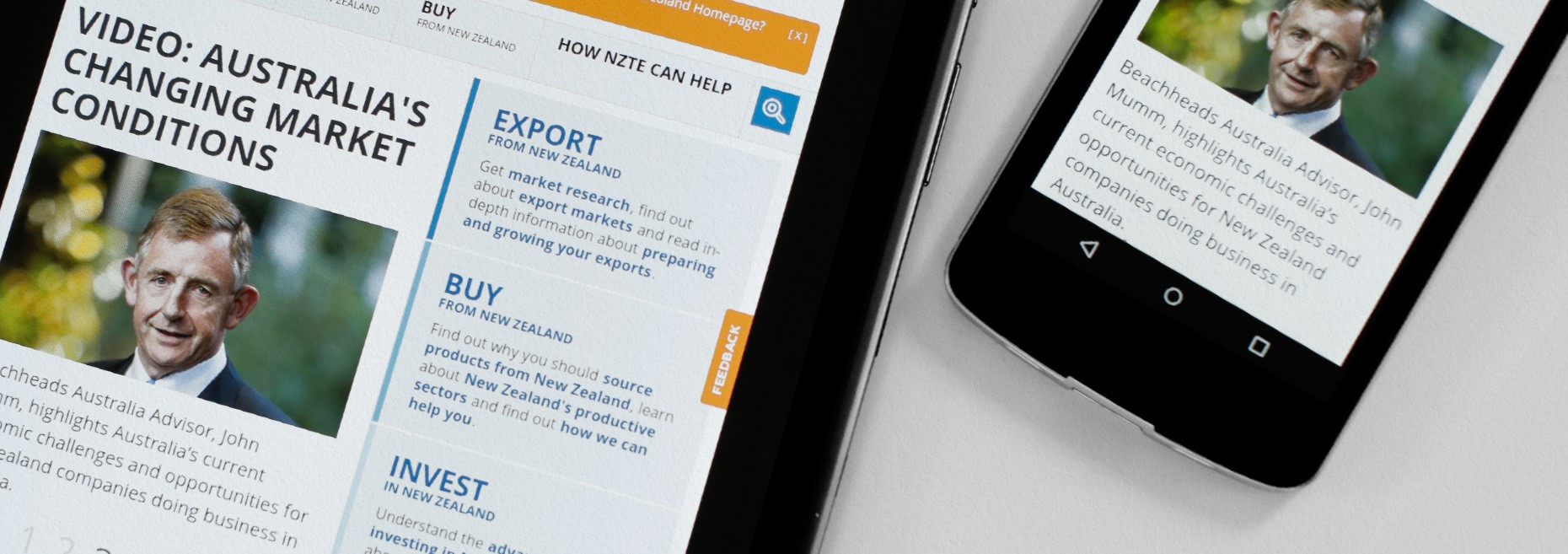 NZTE Responsive Homepage On A Tablet And Mobile.jpg
