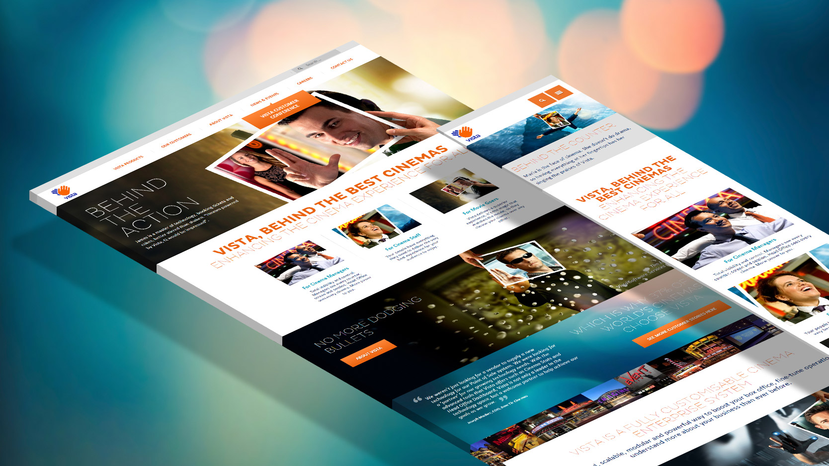 Responsive Homepage of Vista Entertainment Solutions