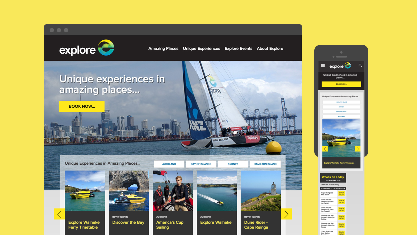 Explore Group's Responsive Homepage